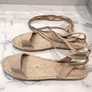 ASOS espadrilles tie up nude flat sandals